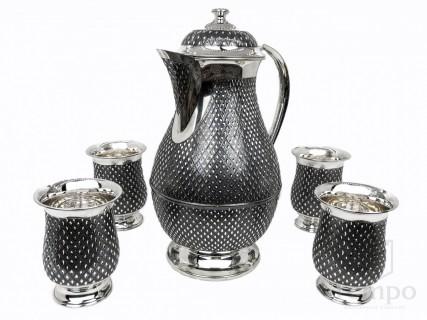 серебряная кофейная пара