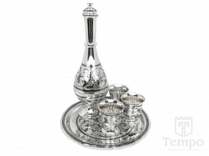 серебряный сервиз для спиртных
